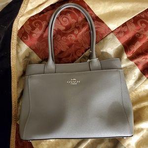 Coach gray leather coach bag